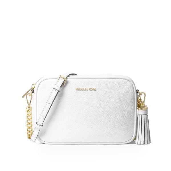 Michael Michael Kors Michael Kors Women's White Leather Shoulder Bag