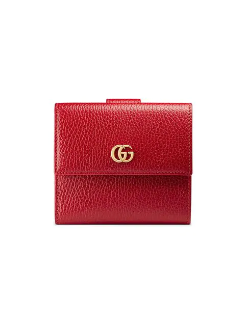 0873f1ef48f070 Gucci Women's 546584Cao0G6433 Red Leather Wallet | ModeSens