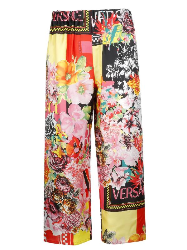 Versace Women's A82117A230087A7000 Multicolor Silk Pants