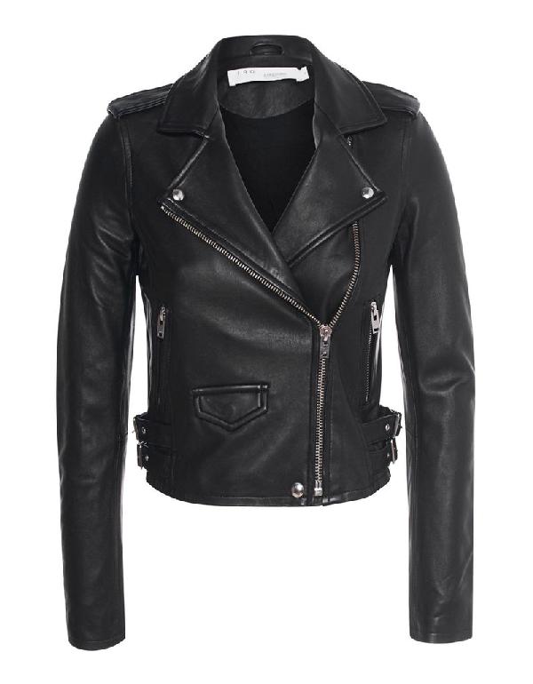 Iro Women's Black Leather Outerwear Jacket
