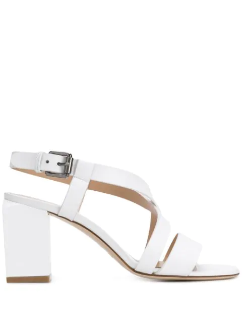 Deimille White Leather Sandals