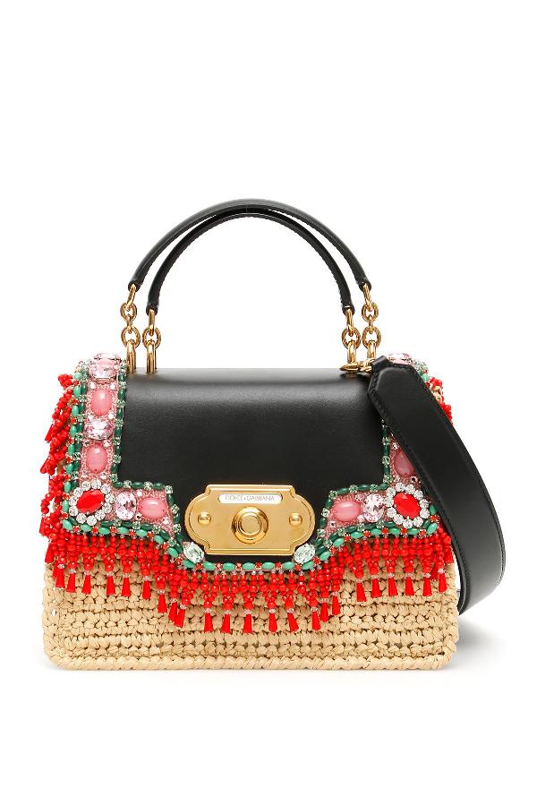 7f6f12446ea9 Dolce   Gabbana Medium Welcome Handbag In Multi