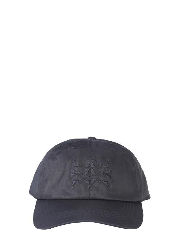 Moose Knuckles Panelled Cap In Black