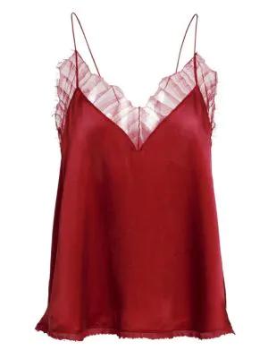 Iro Berwyn Silk Camisole In Red