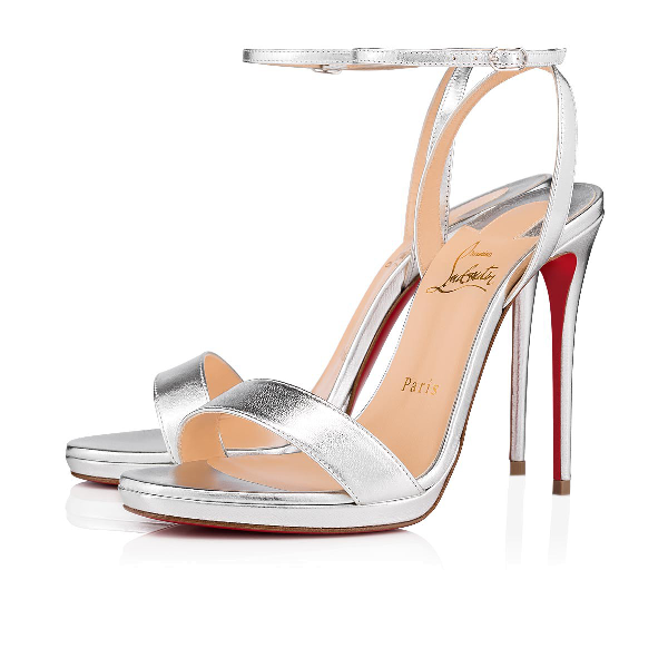 b83f4f4bdeac Christian Louboutin Loubi Queen Laser Red Sole Holographic Sandals ...