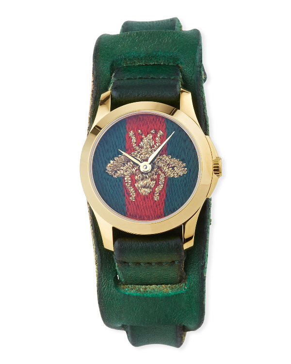 f90b9d40297 Gucci G-Timeless 27Mm Bee Watch W  Leather