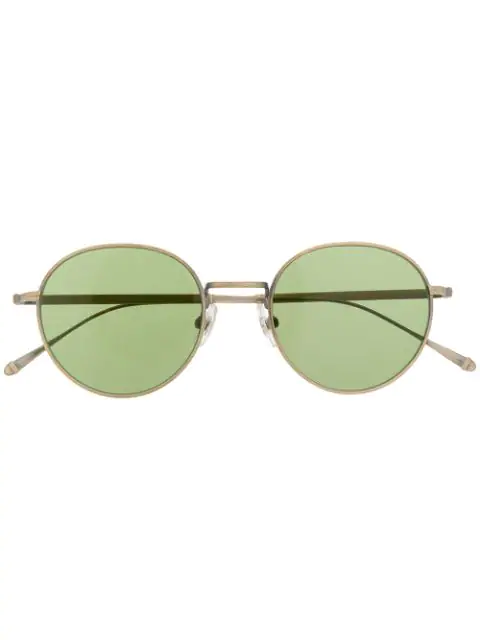 Matsuda Round Tinted Sunglasses In Gold