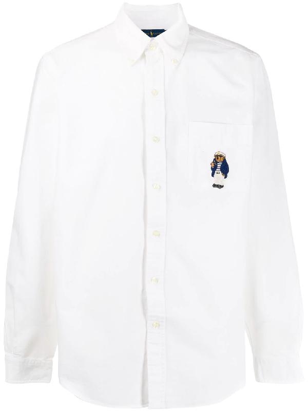 01eb10389 Polo Ralph Lauren Ralph Lauren Polo Bear Shirt - White