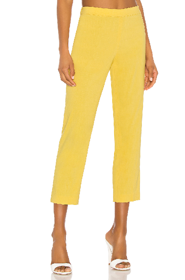 Theory Eco Crunch Wash Basic Pull-On Pants In Orange Blossom