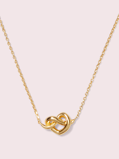 """Kate Spade Heart Knot Collar Necklace, 16"""" + 3"""" Extender In Gold"""