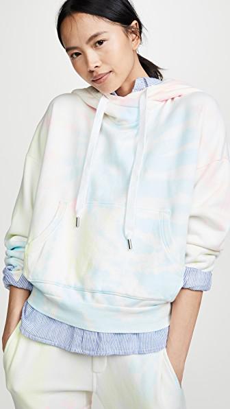 Nsf Lissete Hoodie In Neon Pastel Tie Dye