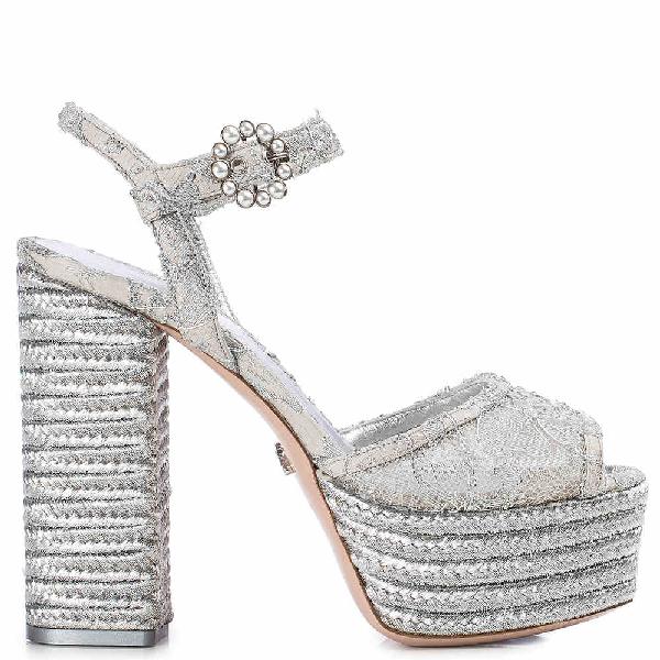 Le Silla Danae Sandal 140 Mm In Silver