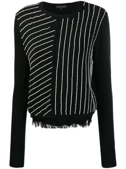 Cashmere In Love Knit Sweater With Handcrafted Beads In Black