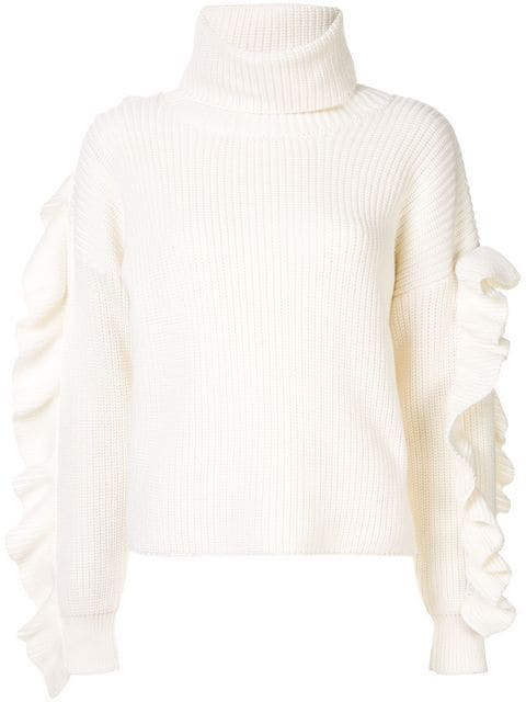 Anna October Turtleneck Jumper In White