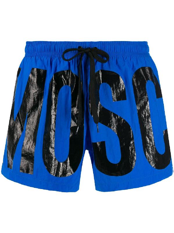 39f1c4d3c25a8 Moschino Logo Swim Shorts - Blue | ModeSens