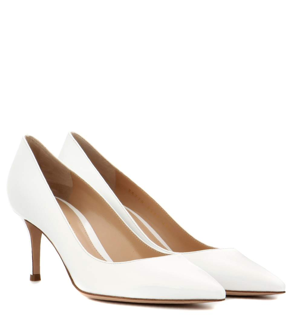 Gianvito Rossi Exclusive To Mytheresa.Com - Gianvito 70 Patent Leather Pumps In Offwhite