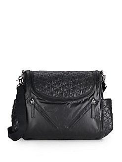 Rebecca Minkoff 'Jude' Nylon Baby Bag - Black