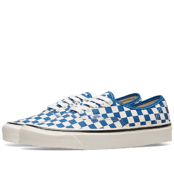 Vans Authentic 44 Sneaker In Og Blue & Check