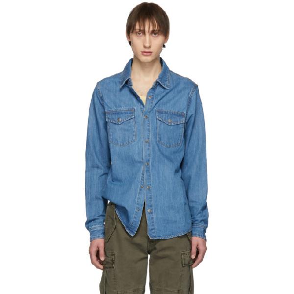 Ksubi De Nimes Young American Denim Shirt In 98 Denim