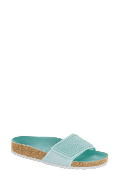 Birkenstock Tema Slide Sandal In Gray Textile