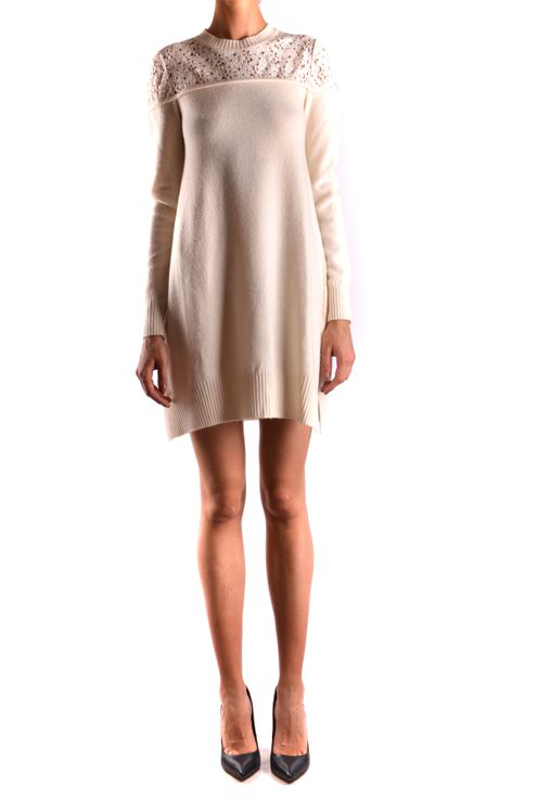 Philosophy Sweater Dress In Cream In White