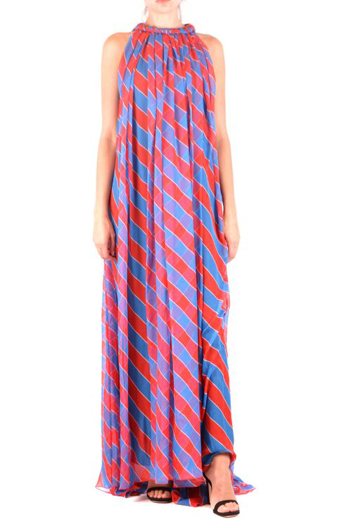 Philosophy Maxi Dress In Blue/red In Blue,multi,red