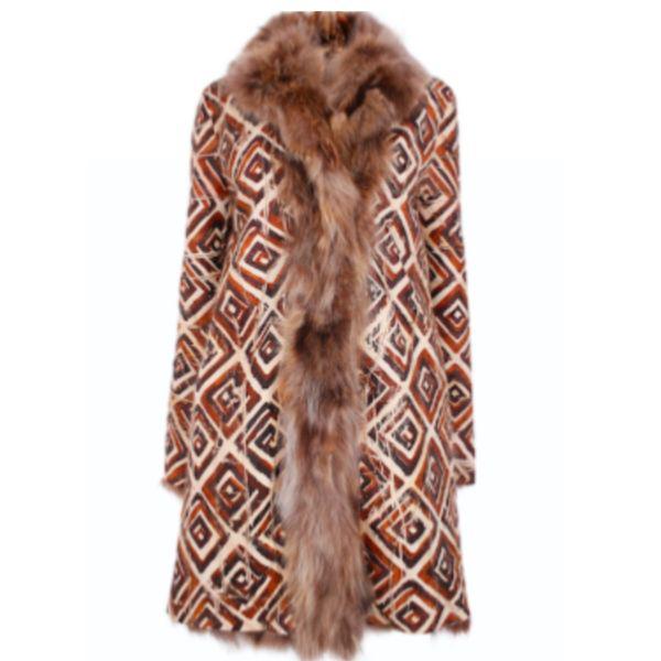 Stella Forest Fur Coat Fidji In Brown