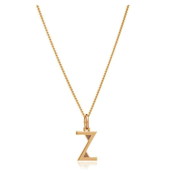 Rachel Jackson This Is Me Z Alphabet Necklace - Gold In Silver