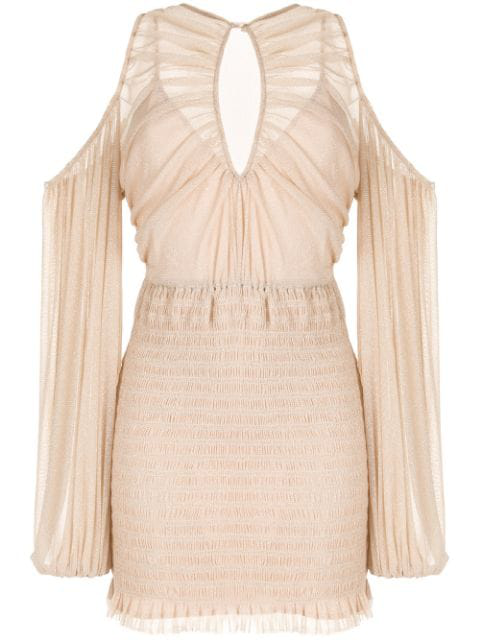 Alice Mccall Spell Cold-shoulder Mini Dress In Pink