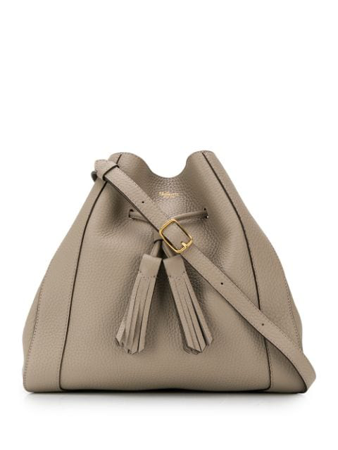 Mulberry Millie Drawstring Small Tote In Grey