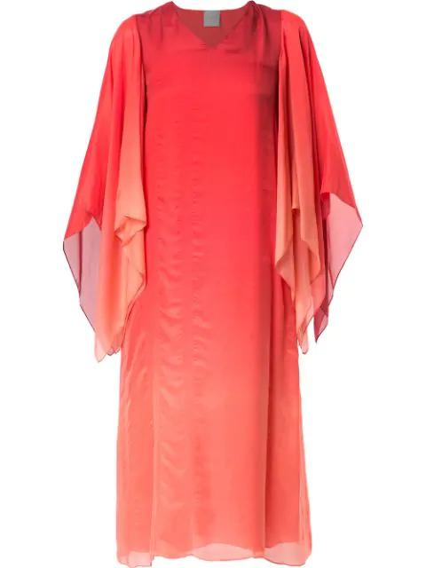 Ingie Paris Degradé Cape Dress In Red