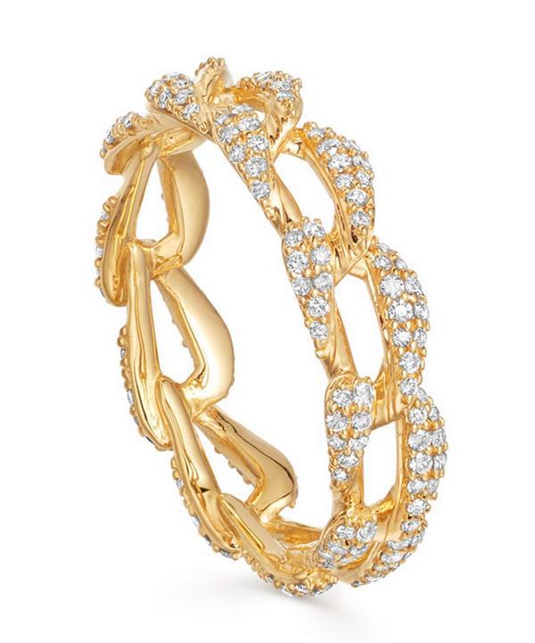 Astley Clarke Gold Vela Diamond Eternity Ring