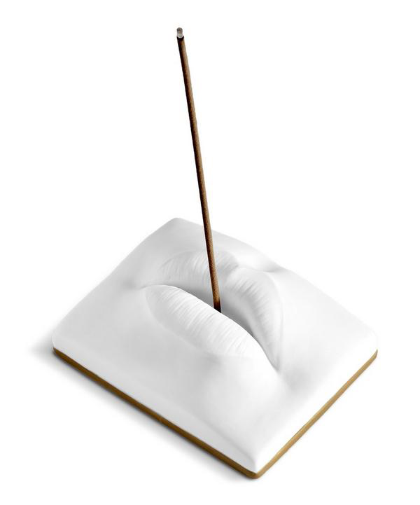 L'objet Oh Mon Dieu Lips Incense Holder In White