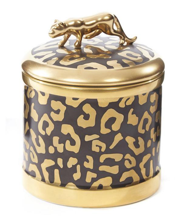 L'objet Leopard Candle In Brown