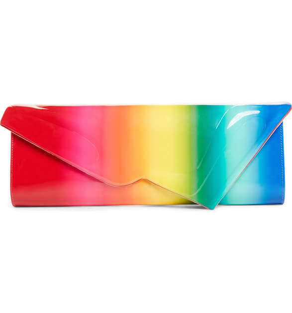 309e9a21db33 CHRISTIAN LOUBOUTIN. So Kate Rainbow Patent Leather Baguette Clutch ...