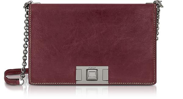 Furla Glossy Leather MimÌ S Crossbody Bag In Ribes