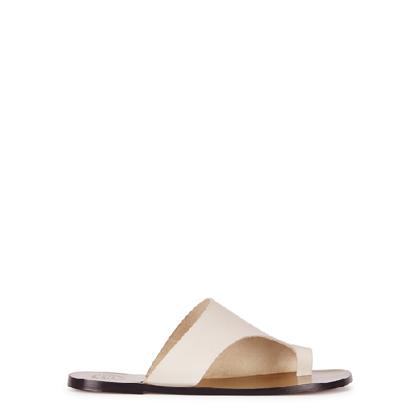 Atp Atelier Rosa White Leather Sandals