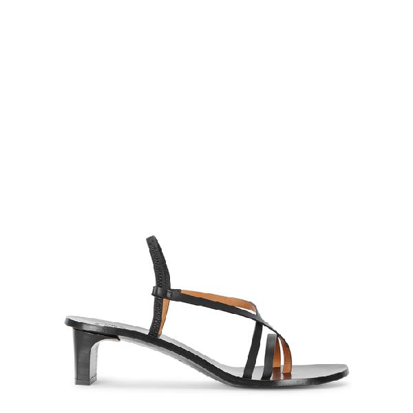 Atp Atelier Nashi 50 Black Leather Sandals