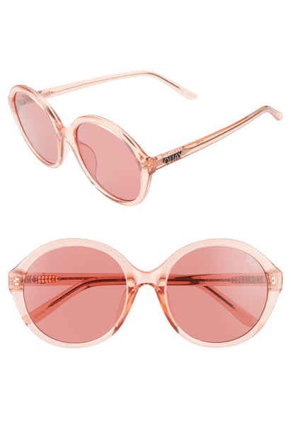 65f0ade6a8cf2 Quay X Benefit Tinted Love 55Mm Round Sunglasses - Pink  Pink