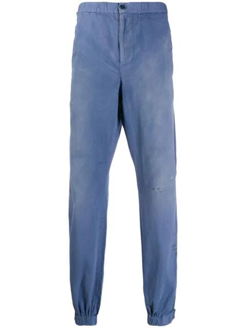 John Elliott Elasticated Waist Trousers In Blue