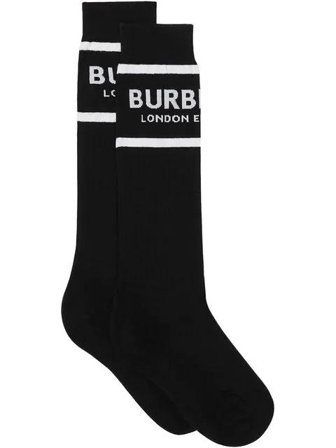 Burberry Sport Crew Socks In Black