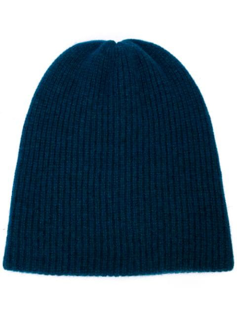 The Elder Statesman Watchman Beanie In Peacock