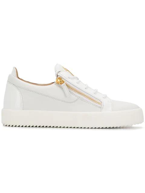 Giuseppe Zanotti Frankie Low-top Sneakers In 003 Bianco
