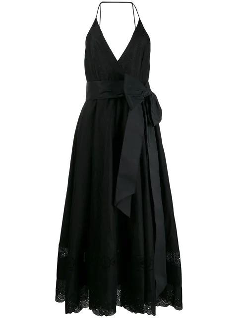 N°21 Bow Embellished Midi Dress In Black