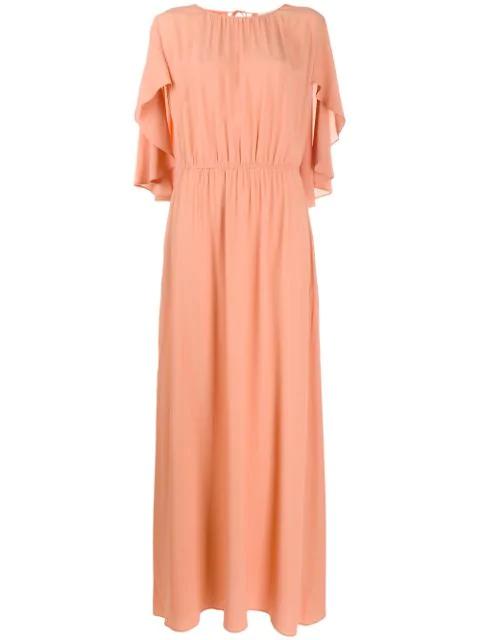 L'Autre Chose Cap Sleeve Dress In Neutrals