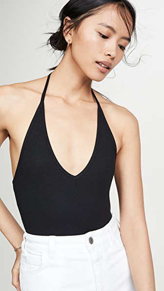 8fb785832af0 Atm Anthony Thomas Melillo Halter Bodysuit In Black | ModeSens