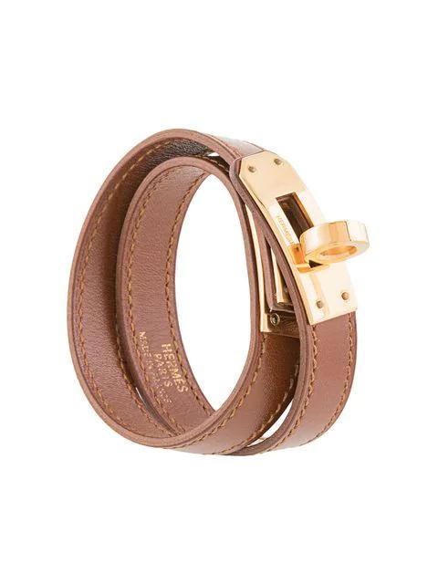 Hermès Pre Owned Kelly Double Tour Bracelet Brown