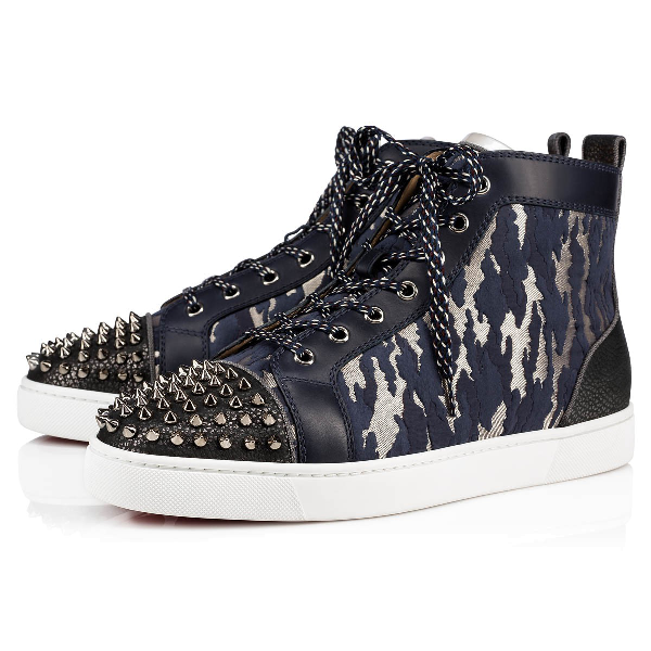 Christian Louboutin Lou Spikes High Top Sneaker In Version Multi