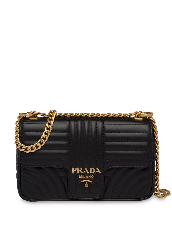 77f88481261840 Prada Diagramme Medium Shoulder Bag - Black In F0K3P Black 4 | ModeSens