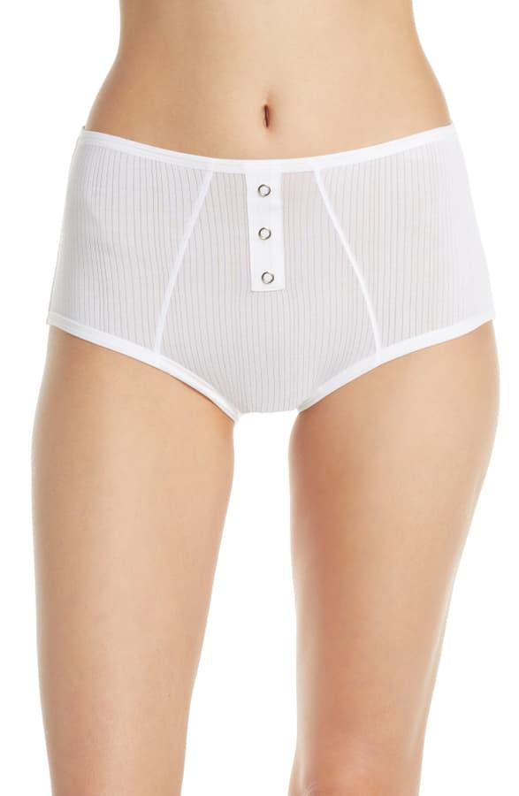 Negative Underwear Negative Whipped Boyshorts In White
